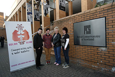 members of Solar bear outside the royal conservatoire